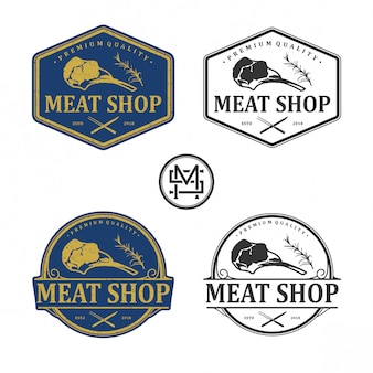 Meat shop vintage logo