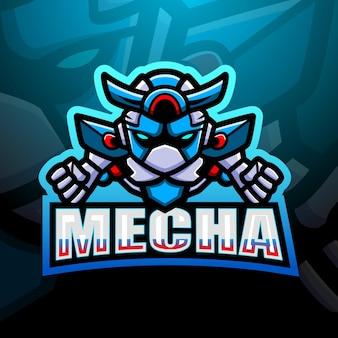 Mecha mascotte esport illustratie