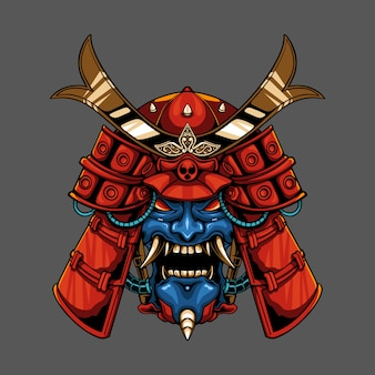 Mecha onimusha demon samurai illustratie