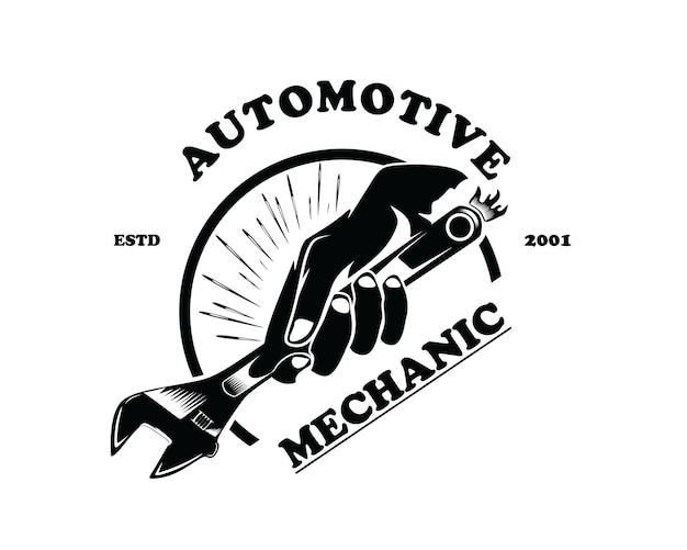 Mechanisch handlogo-ontwerp