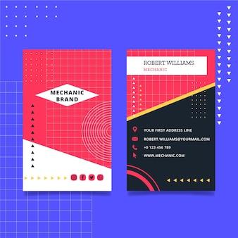 Mechanisch visitekaartje