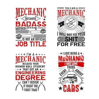Mechanische citaat en gezegde set