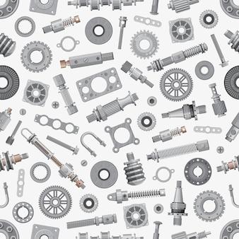 Mechanische reserveonderdelen naadloze patroon achtergrond