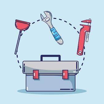 Mechanische tool instellen om service te repareren