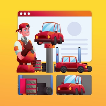 Mechanische werknemer van auto-workshop