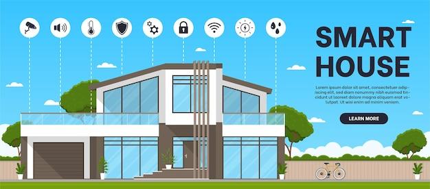 Mechanismen voor het beheren van een slim huisbeveiligingssysteem en elektriciteit die het huis vergrendelt, enzovoort