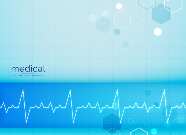 Mecial achtergrond met elektrocardiogram hartslag
