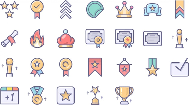 Medaille icon pack