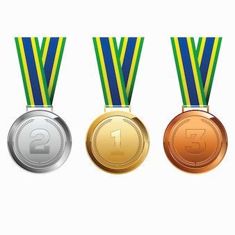 Medailles met lint