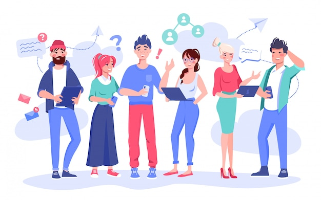 Medewerker communicatie probleemoplossend concept