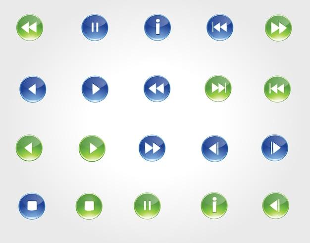 Media afspeellijst pictogramserie