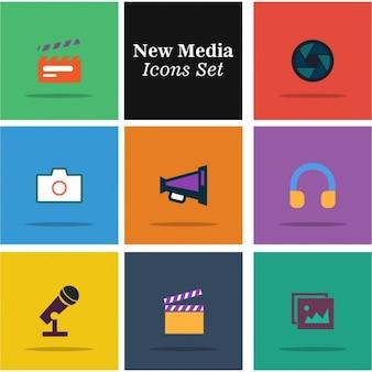 Media icons vector set