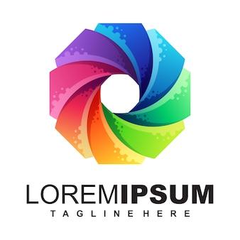 Media logo ontwerp illustratie