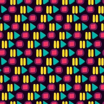 Media player kleurrijke knop platte naadloze patroon