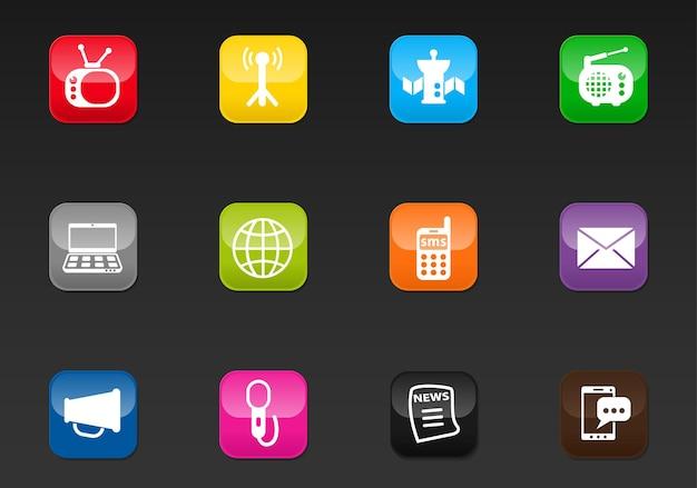 Media professionele webpictogrammen voor uw ontwerp