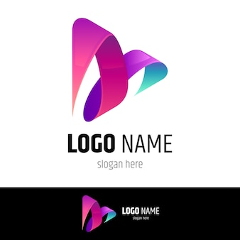 Media spelen logo concept