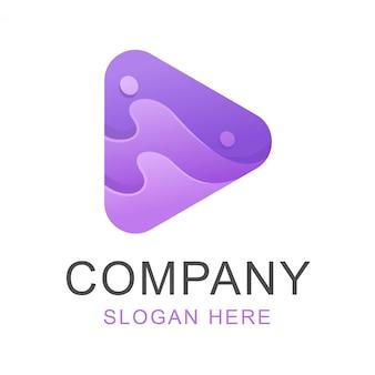 Media spelen logo-ontwerp