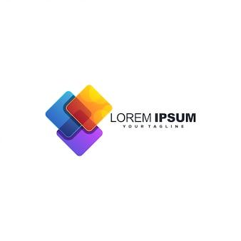 Media tech kleur logo ontwerp