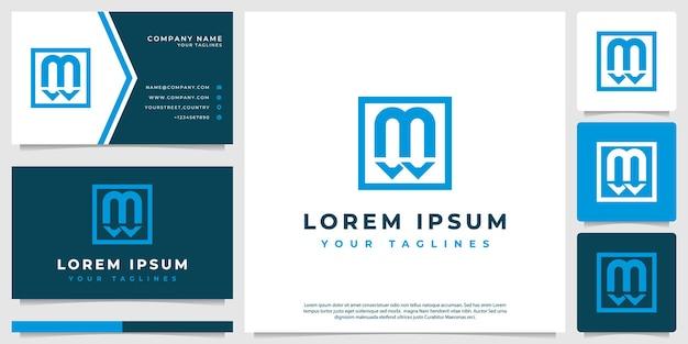 Media tekst logo vector minimalistisch