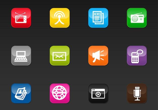 Media vector iconen voor gebruikersinterface ontwerp