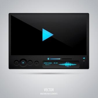 Mediaspeler-interface.