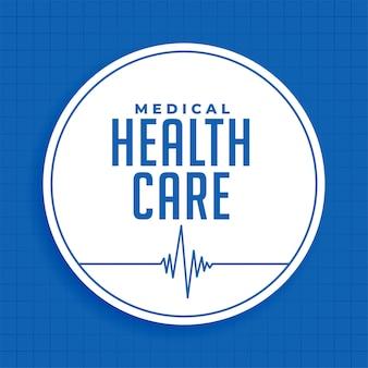 Medica andl de blauwe achtergrond van de gezondheidszorgwetenschap