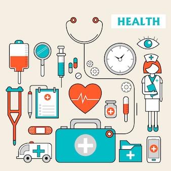 Medicijnbenodigdheden in stijl