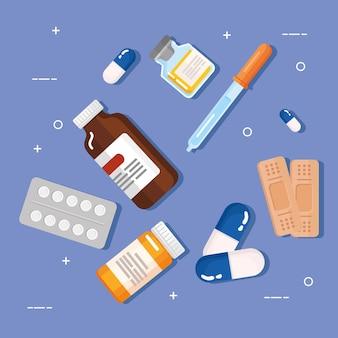 Medicijnen clipart set