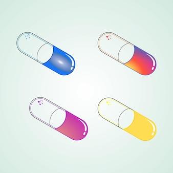 Medicijnpictogram in de vorm van een concept dat klaar is om te worden bewerkt