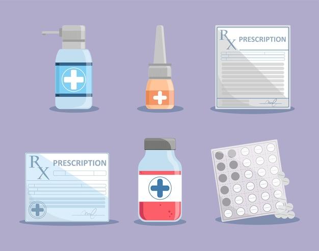 Medicijnvoorschrift en flessen