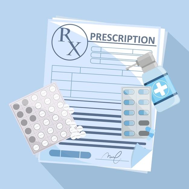 Medicijnvoorschrift met medicijnen