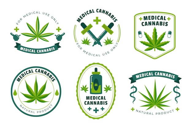 Medicinale cannabis badges-collectie