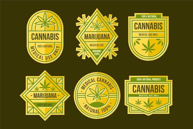 Medicinale cannabis badges collectie