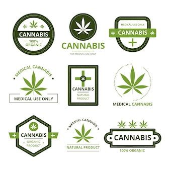 Medicinale cannabis badges pack