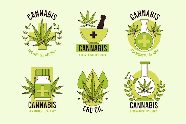 Medicinale cannabis badges