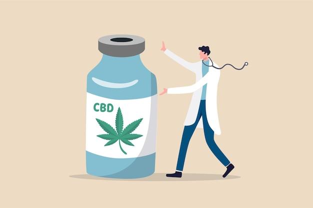 Medicinale cannabis, legaal extract van marihuana-olie voor medisch gebruik om ziekteconcept te genezen