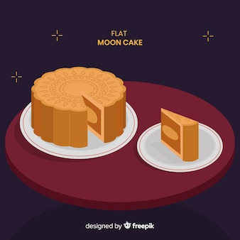Medio herfst festival achtergrond met maan cake