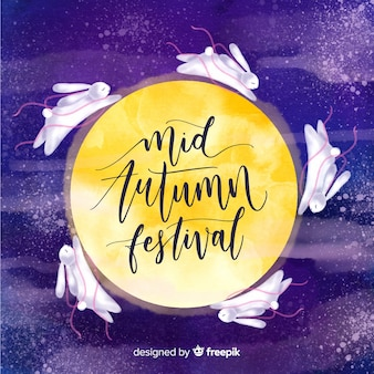 Medio herfst festival achtergrond