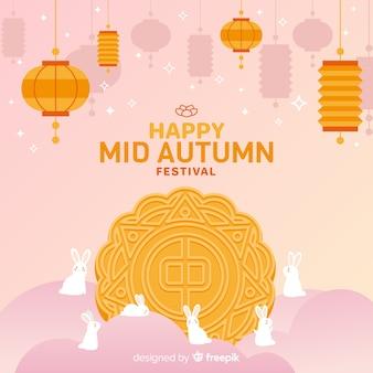 Medio herfst festival achtergrondontwerp