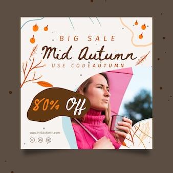 Medio herfst vierkant ontwerp van de banner