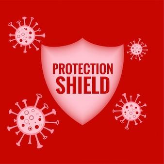 Medisch beschermingsschild dat het coronavirus stopt en vernietigt