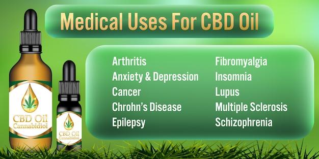 Medisch gebruik voor cannabidiol-producten met cbd-olie