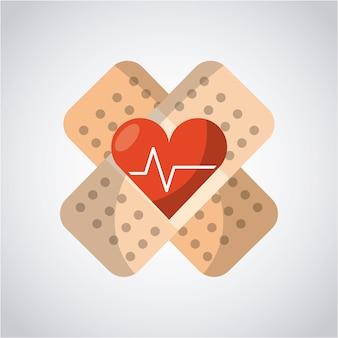 Medisch gezondheidszorgontwerp, vector grafische illustratie eps10