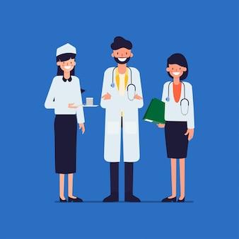 Medisch het personeelsteam van de het ziekenhuisarbeider van arts.