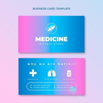 Medisch horizontaal visitekaartje