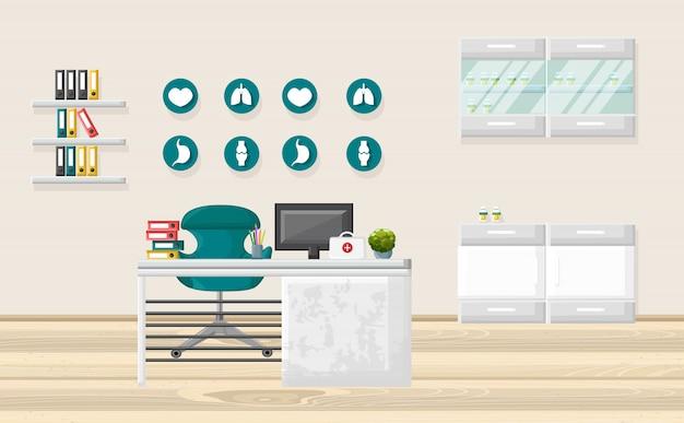 Medisch kantoor en gezondheidszorgconcept