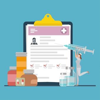 Medisch klembord, voorschrift van medicijnen.