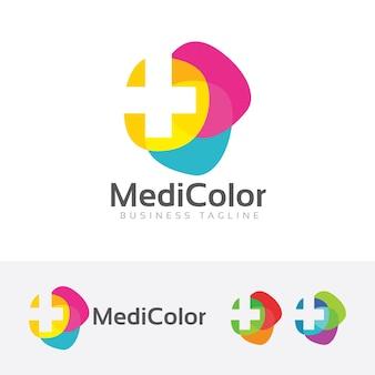 Medisch kleurrijk logo