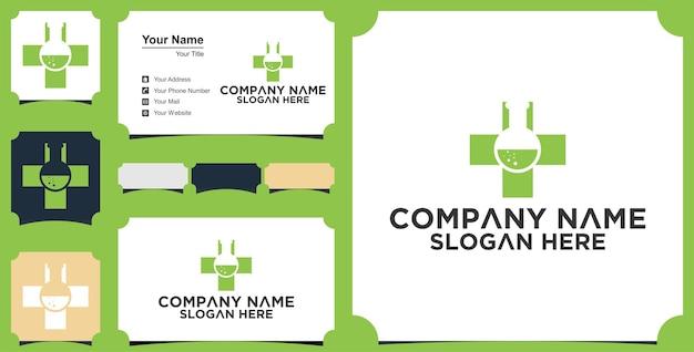 Medisch laboratorium logo en visitekaartje