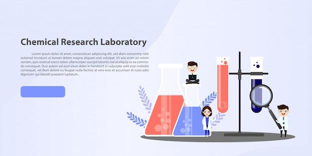 Medisch laboratoriumonderzoek met de illustratieconcept van de wetenschapsglazen buis.